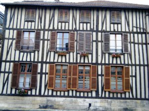 Beautiful half-timbered houses of Chalons.
