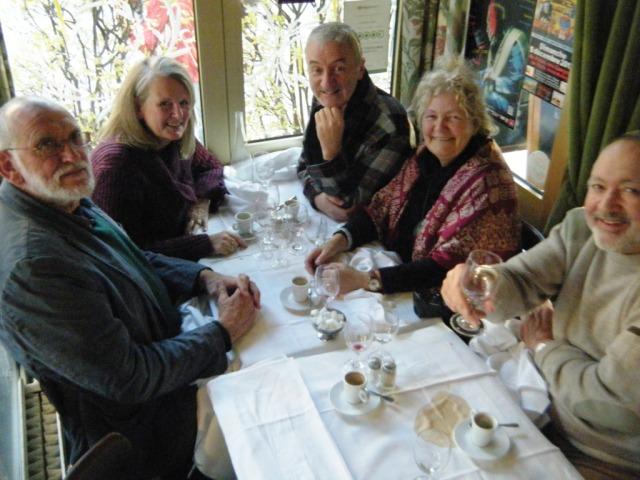 Josh, Kay, John, Lesley and Stewart at the Biche.