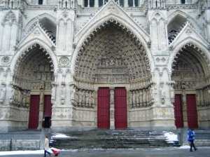 Amiens cathedral western entrance.