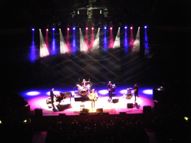 Canadian singer/songwriter Ron Sexsmith on stage at the Royal Albert Hall.