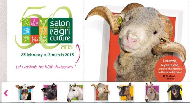 Salon de l'Agriculture, 50th Year in Paris.
