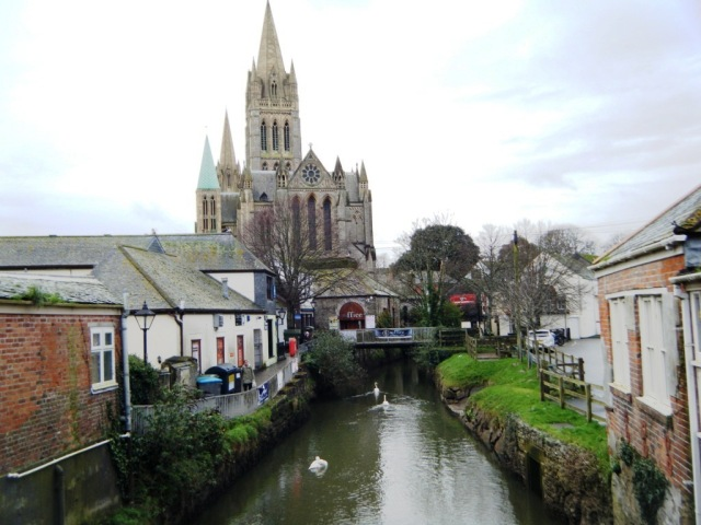 Truro cathedral, the 'newest' we have ever visited, built between 1880-1910.