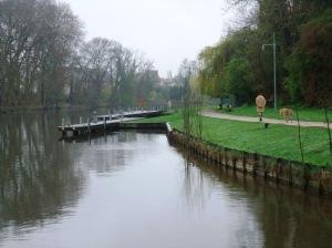 Lovely, quiet moorings at Moret-sur-Loir.