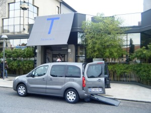 A professional, wheelchair accessible taxi in Roanne, and a three-star Michelin restaurant, Maison Troisgros.