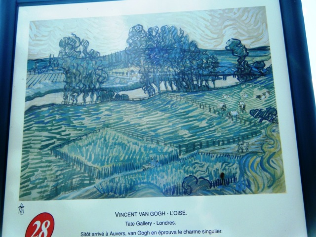 Vincent Van Gogh - L'Oise. The Tate Gallery, London (but our photo of the sign!)
