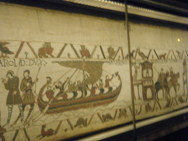 A small section from the Bayeux Tapestry.
