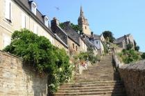 The Brelevenez church steps at Lannion, not much use to Stewart.