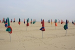 Deauville beach ready for the crowds.