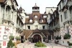 The sumptuous Hotel Normandie, Deauville, typical architecture of this resort.