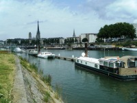 Endellion moored at Rouen.