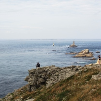 Pointe du Raz headland, otherwise known as Lands End. The most westerly point in France.