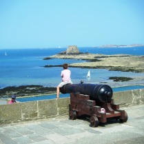 St Malo, Bastion de Holland, looking across the bay.