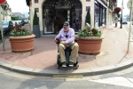 Deauville is a very smart town, but very hard on wheelchair users with poor ramps.
