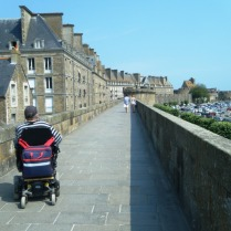 We could walk around most of the St Malo fortifications.