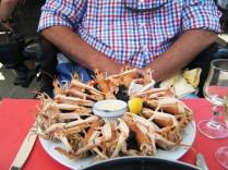 Stewart's lunch at Dinan port.