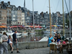 The busy port of Honfleur.