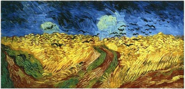 Vincent Van Gogh's 'Wheat-Field-with-Crows', the original is at the Van Gogh museum in Amsterdam.