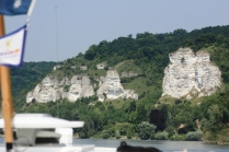 White cliffs along the Seine.
