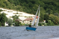 Yacht racing along the Seine.