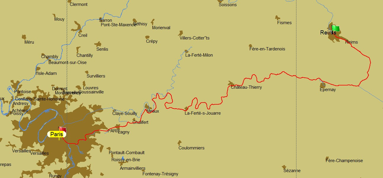 Reims to Epernay Champagne Canal barge ENDELLION