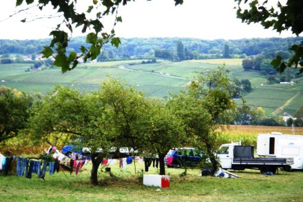 Camping for the vendanges.