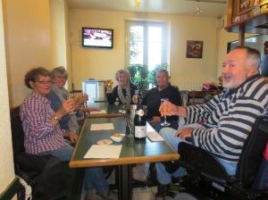 Lesley, Carole, Janie, Ed and Stewart at Au Bateau Lavoir.