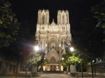 Not the light show, this is the Cathedral with standard night lights - still spectacular.