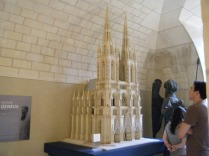 Palais du Tau model of a vision of the ideal Reims Cathedral with spires - we prefer it as it is without.