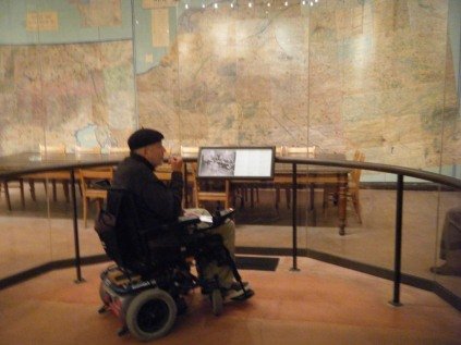 Stewart at the Surrender museum.