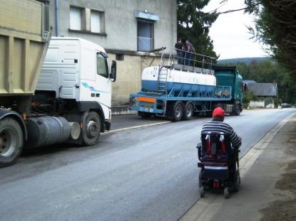 Stewart with grape juice lorries.