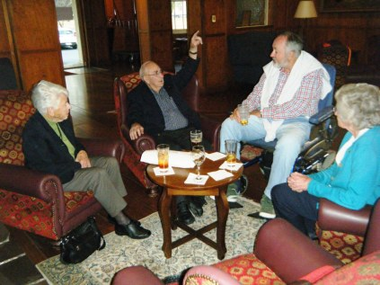Jean, Bob, Stewart and Roma at the Mercure Canberra.
