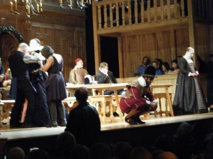 Twelfth Night dressing on stage
