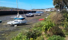Hayle harbour at the bottom of the tide (which seemed to be most of the time!).