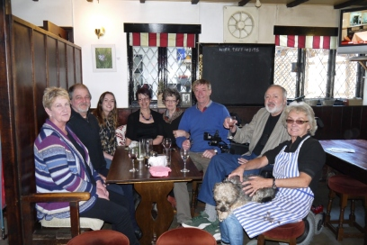 The wonderful King family (my father's side) at the Hawkey family pub, The Cornish Arms, Pendoggett.