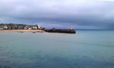 View of St Ives harbour from the St Ives Branch Line train.