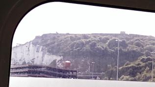 We see the white cliffs of Dover from our ambulance windows, we must be heading in the right direction.